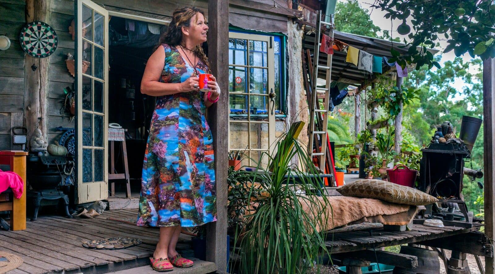 Nelli Gallop on the verandah