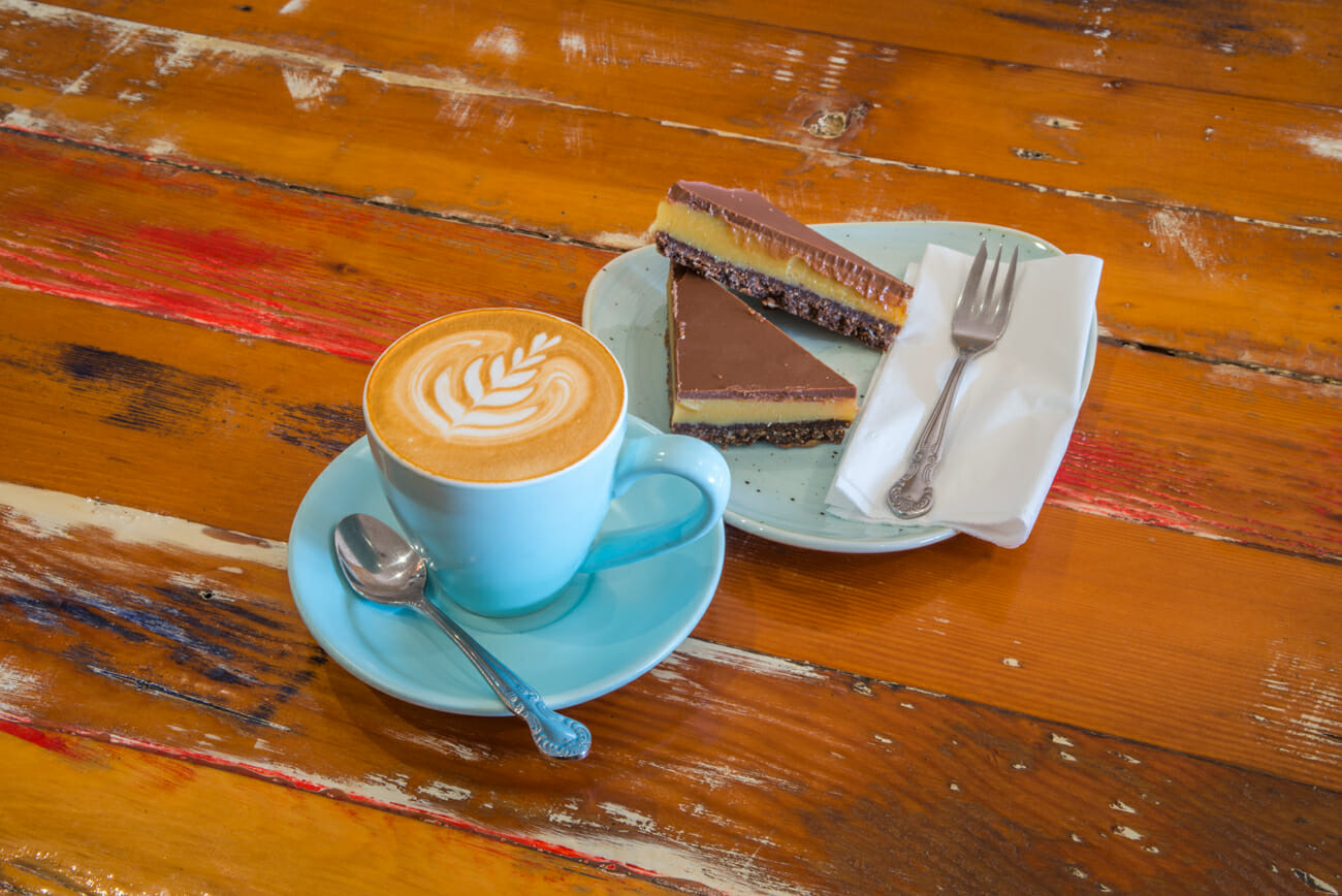 Zest Coffee and Caramel Slice