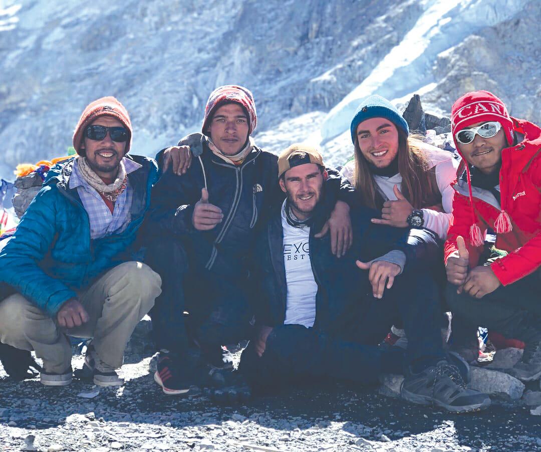 Scott Doolan with sherpa team