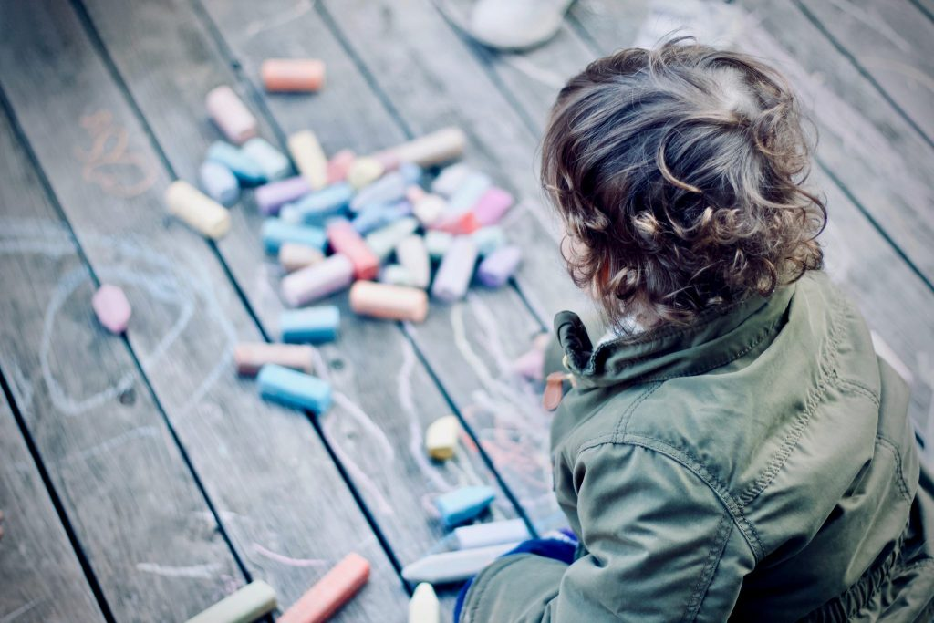 You can keep your kids entertained with some old school chalk drawing. Well, it is better to have bought a hose as well.